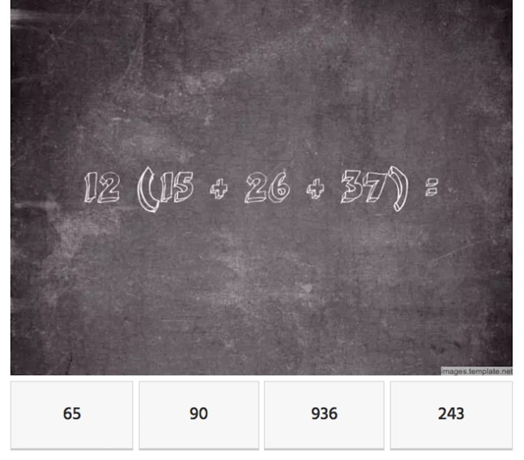 math problem four
