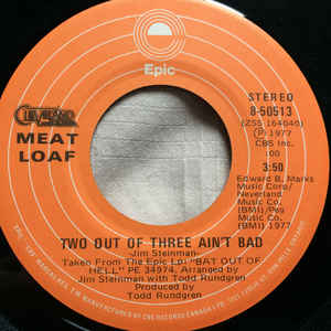 two out of three aint bad record