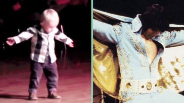 2 year old dances to elvis