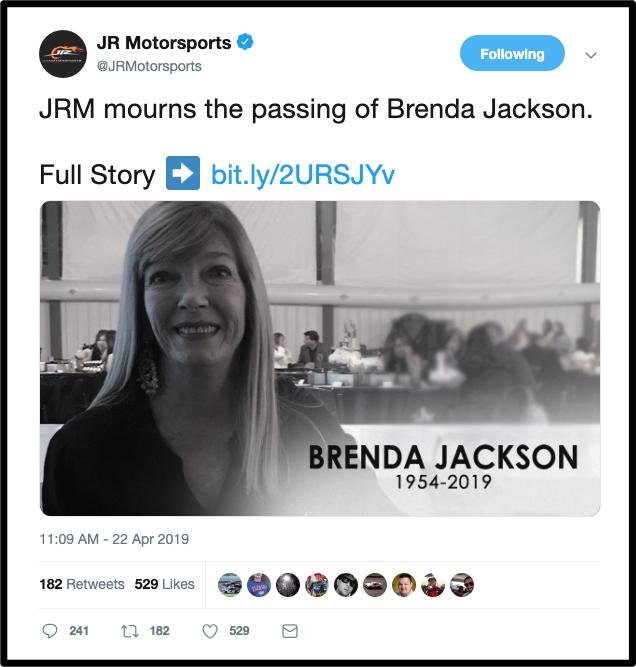 brenda jackson's passing