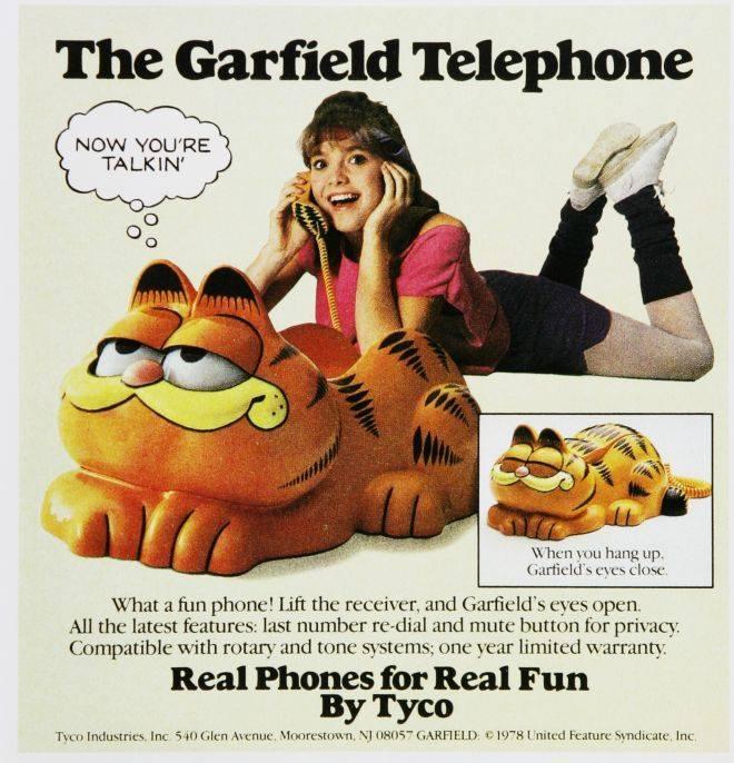 vintage garfield phone ad
