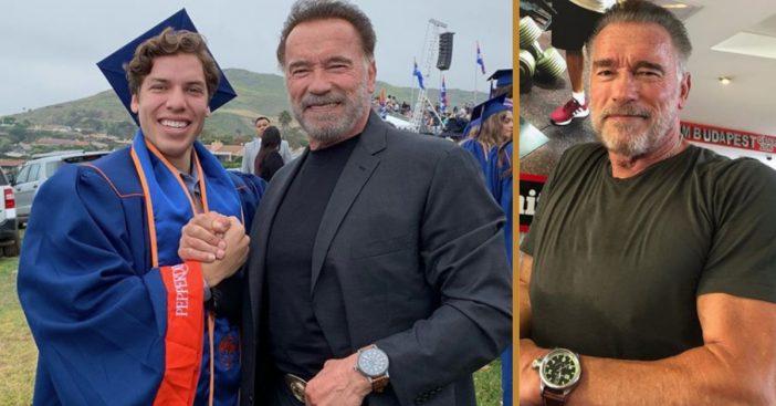 arnold schwarzenegger son graduation