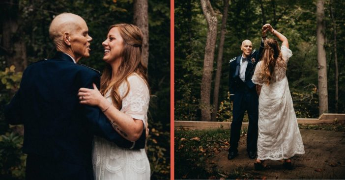 bride dances with dying father