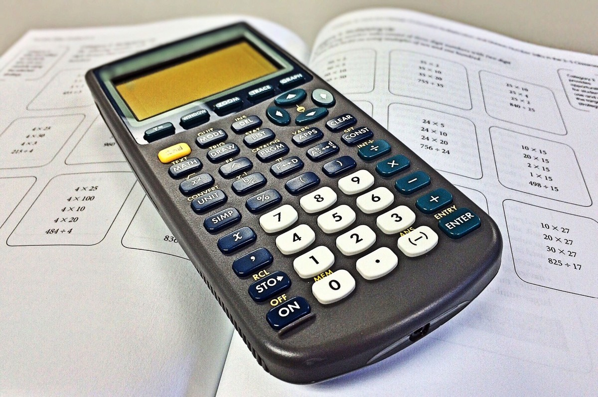 math on a calculator