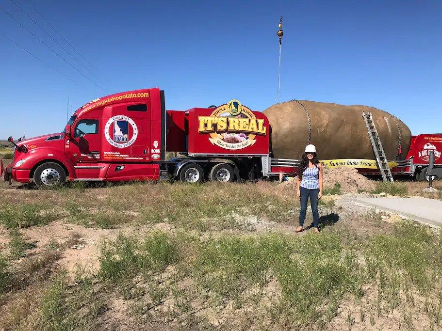 giant potato on truck