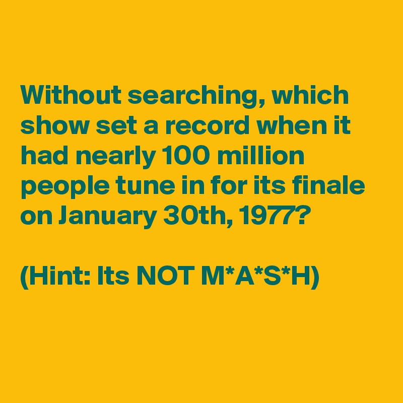 what show set the record for 100 million