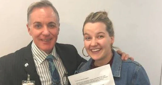 Bridie, who was involved with prank war with dad and airline crew