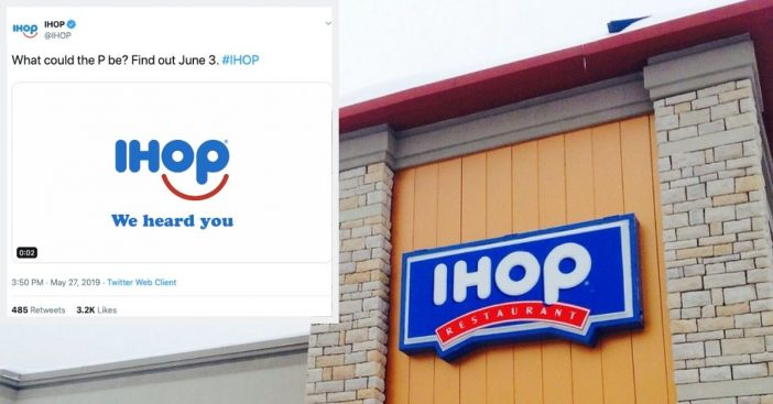 IHOP changing their name again