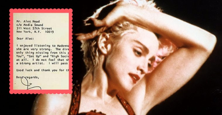 madonna-rejection-letter