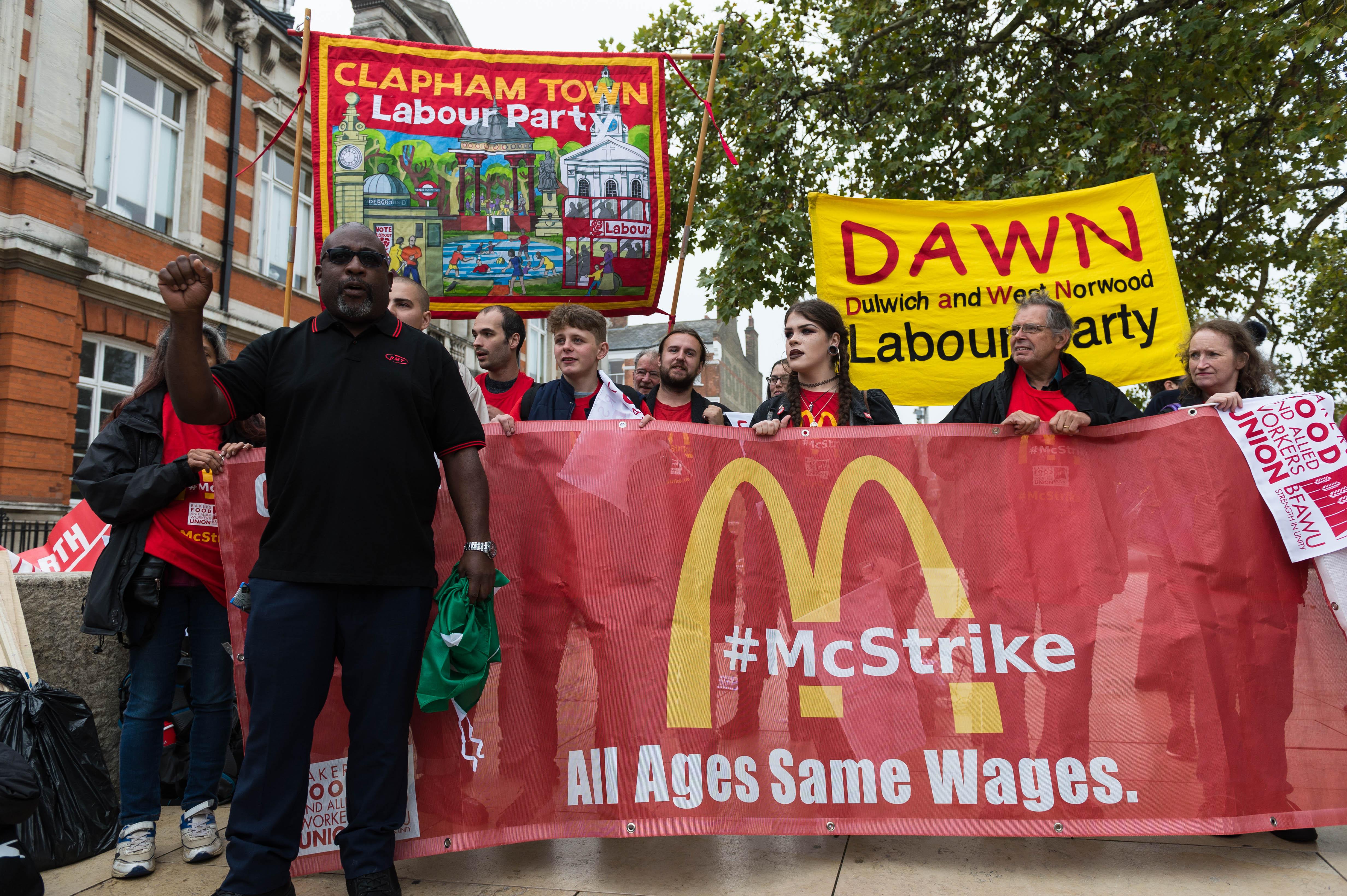 mcdonalds workers strike