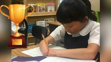 girl born without hands wins handwriting contest