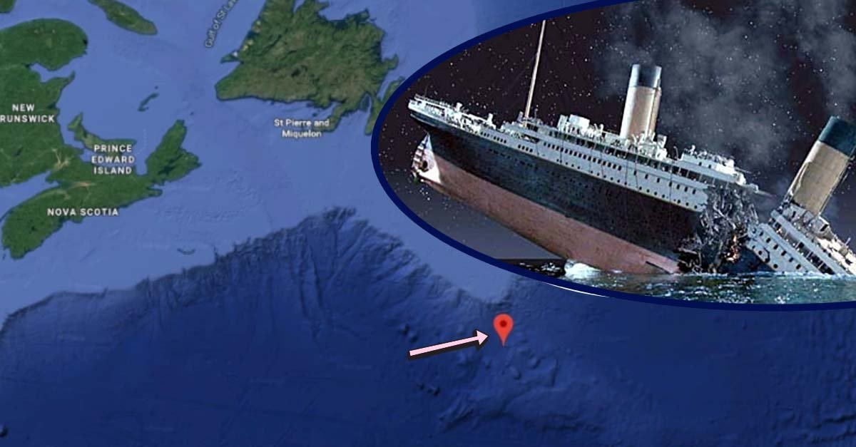 Google Maps Coordinates Detail Exactly Where The Titanic Sank In 1912
