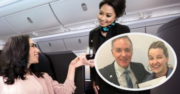 airline crew helps dad pull prank on daughter