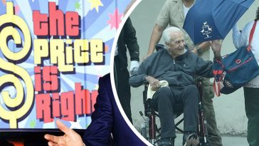 bob barker returns home after being hospitalized from a fall
