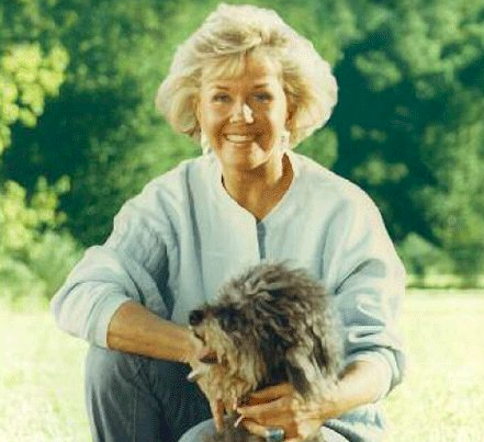 Doris Day with an animal