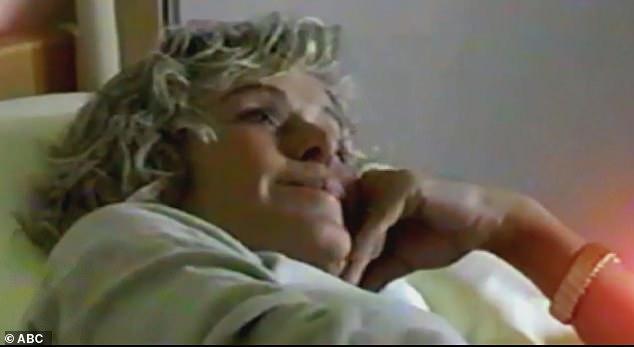 Farrah Fawcett during cancer treatment