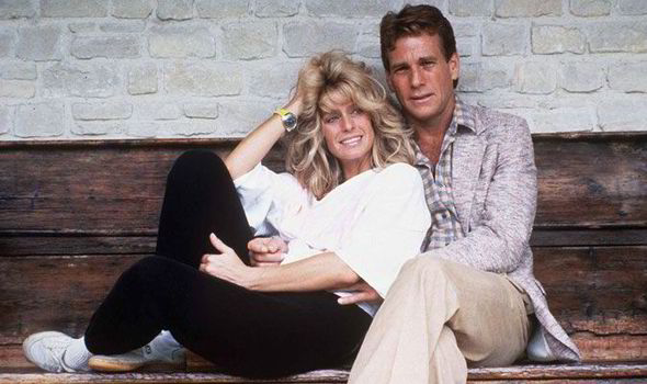 Farrah Fawcett and Ryan O'Neal