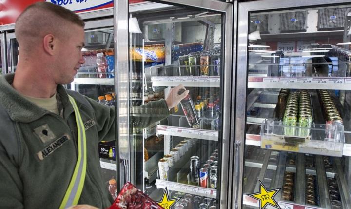 buying energy drinks