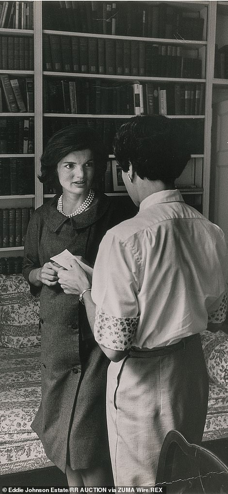 Jackie Kennedy and her personal secretary