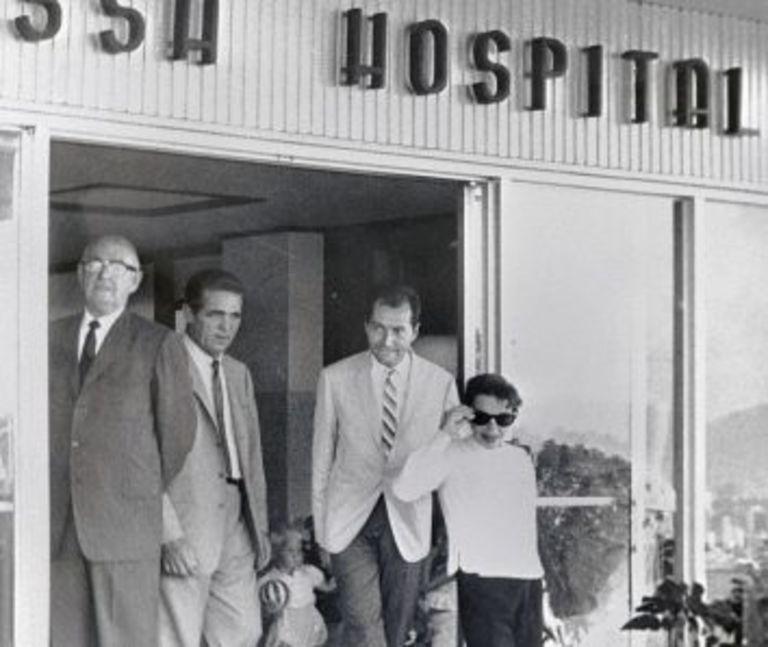 Judy Garland leaving hospital