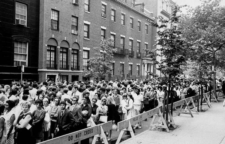 Judy Garland's memorial service in New York