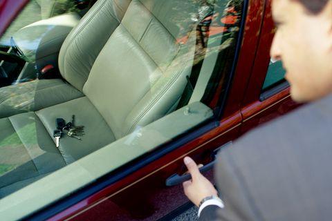 Key fob stuck inside car