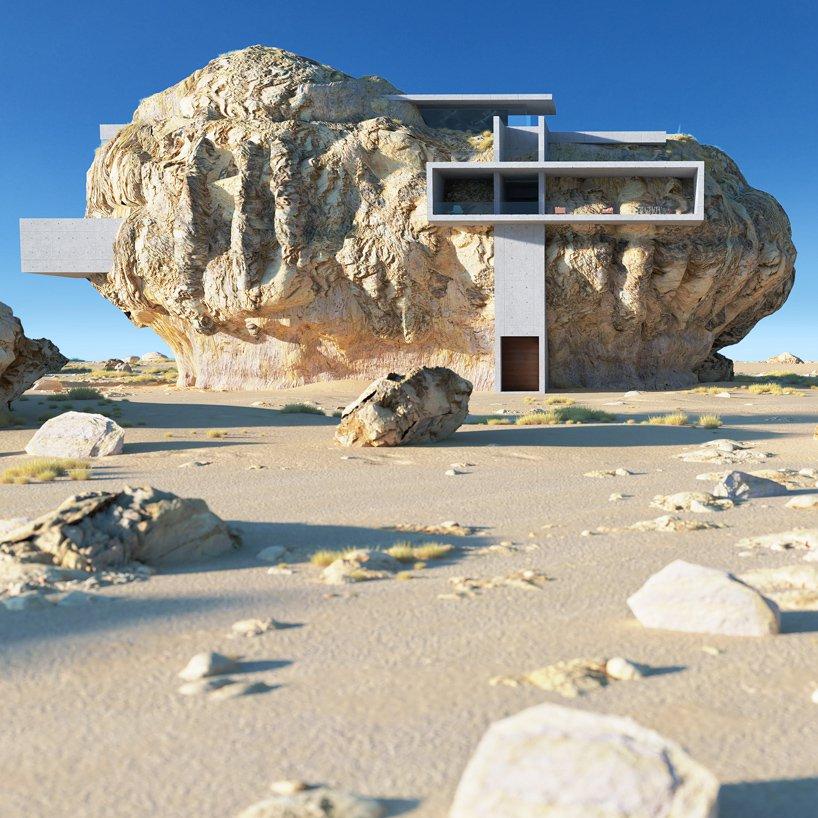 house inside rock