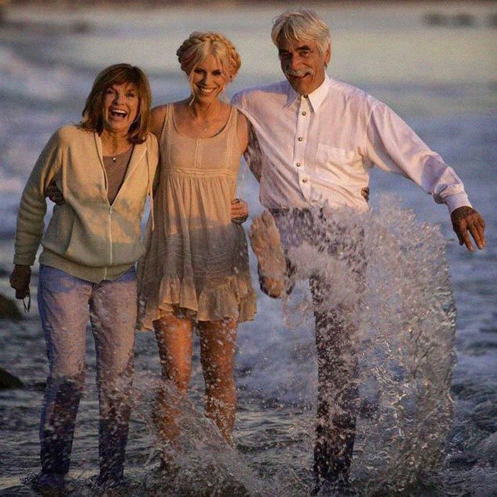 Sam Elliott, Katharine Ross, and Cleo Rose