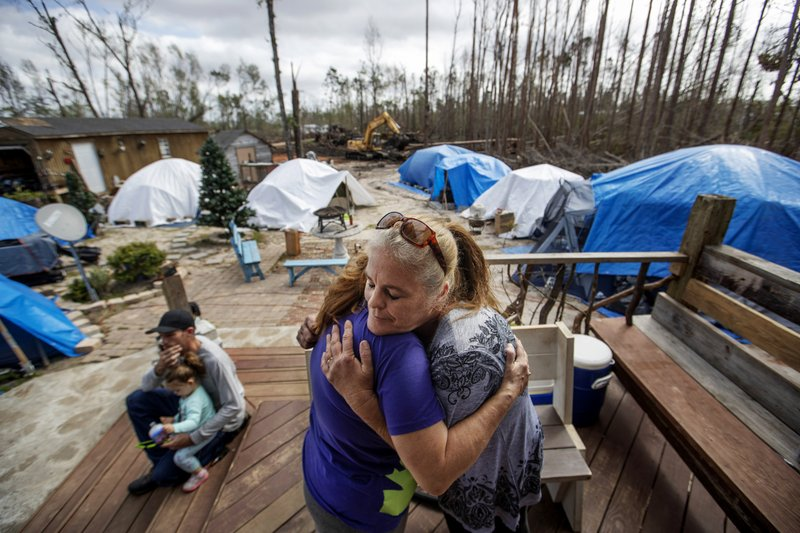 Shelly Summers helps Hurricane Michael victims