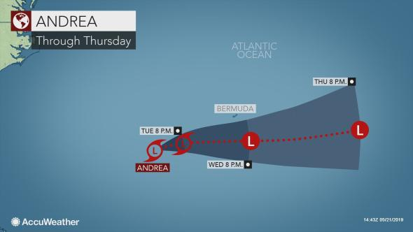 Subtropical Storm Andrea Forms In The Atlantic Weeks Before Hurricane Season Begins