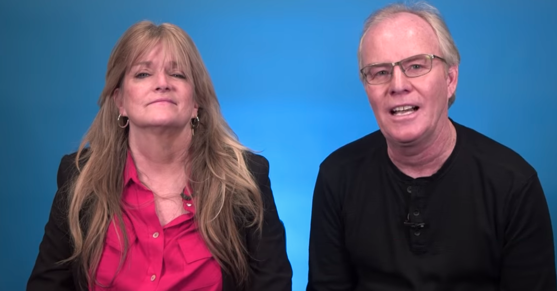 Susan Olsen and Mike Lookinland