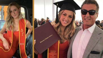 sylvester stallone's daughter graduates college