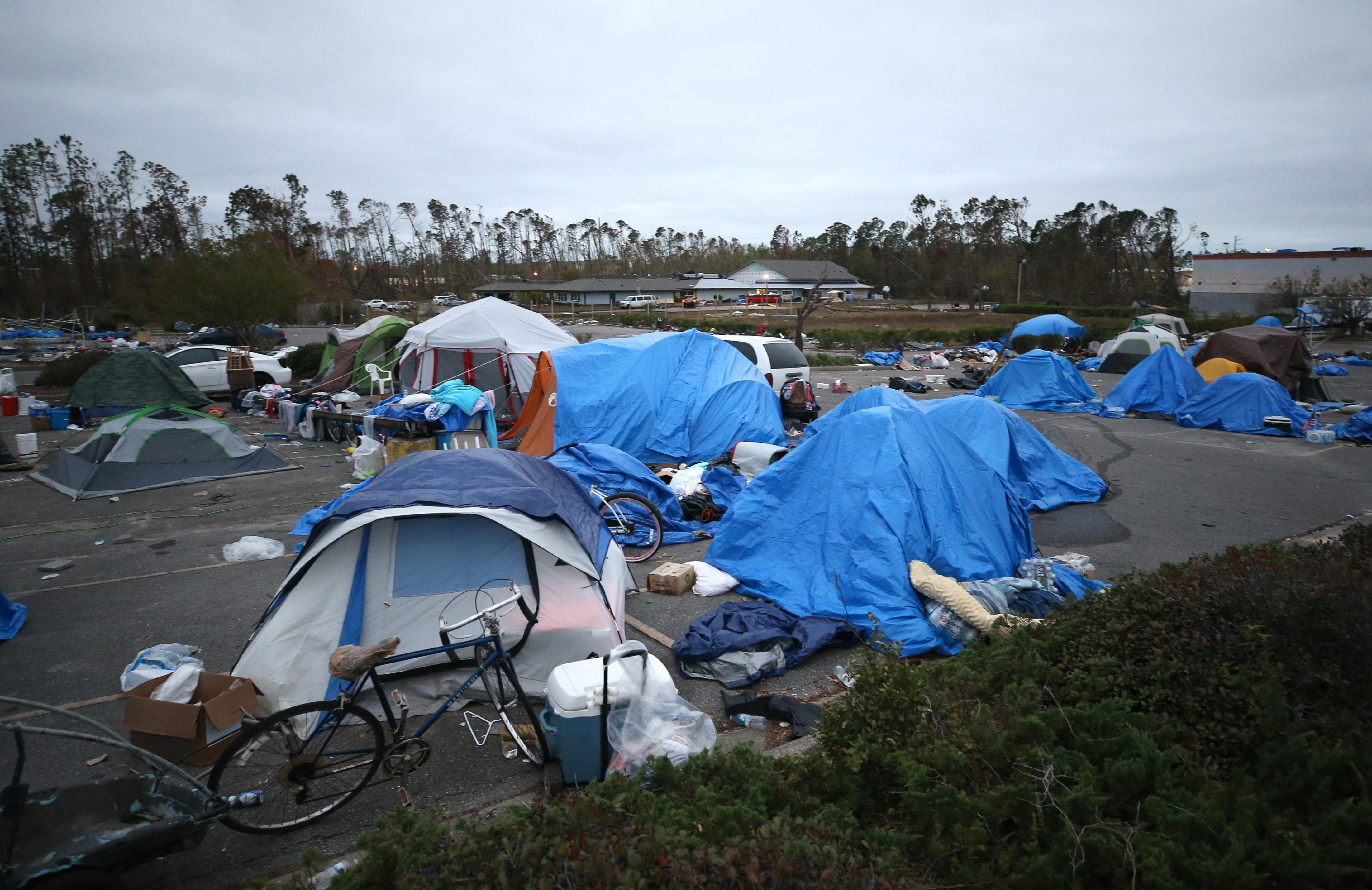 tent city hurricane michael