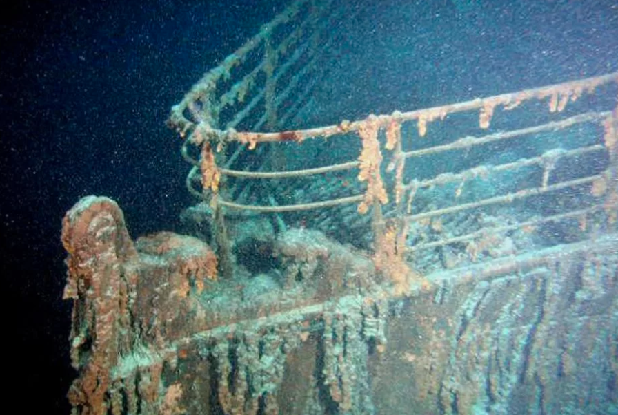 Wreckage from the Titanic