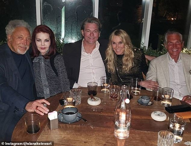 Tom Jones and Priscilla Presley out to dinner