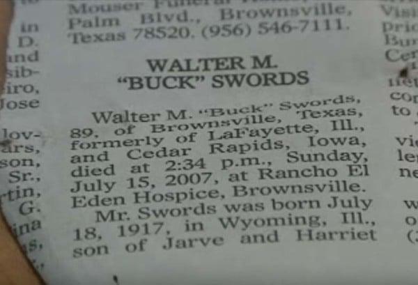 "Walter ""Buck"" Swords obituary"