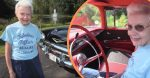 woman drives 1957 chevy and has owned it since then