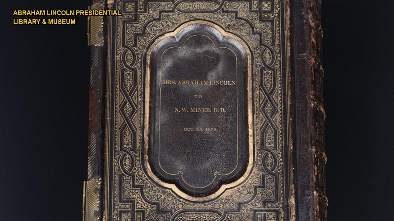 150-year-old Bible belonging to Abraham Lincoln