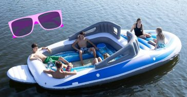 Amazon is selling a boat sized pool float for summer