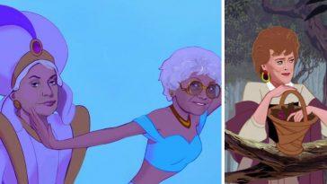 Artist Alicia Herber reimagined The Golden Girls as Disney Princesses