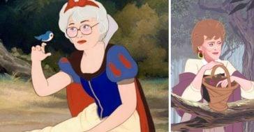 Artist Alicia Herber transformed Golden Girls into Disney Princesses