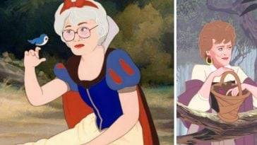 Artist Alicia Herber transformed Golden Girls into Disney Princesses
