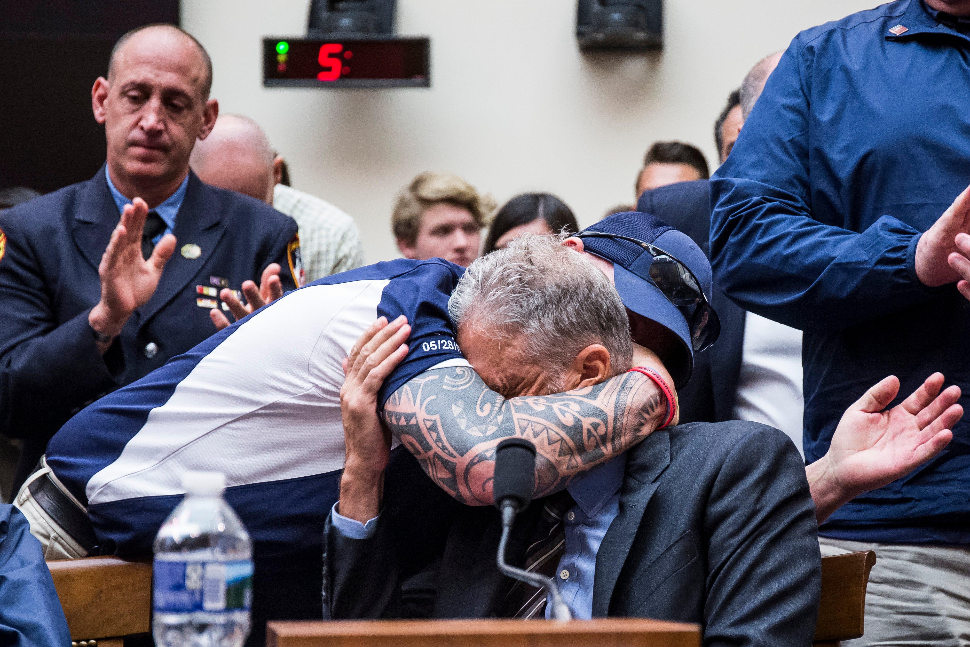 Jon Stewart addresses Congress