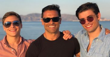 Kelly Ripa posted a throwback of her husband and lookalike sons