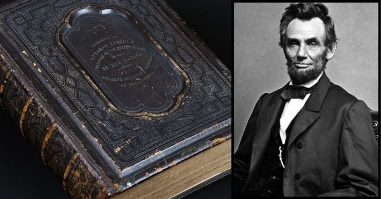 abraham lincoln's 150-year-old bible discovered