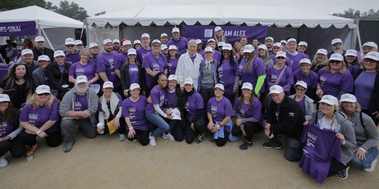 Alex Trebek with pancreatic cancer survivors