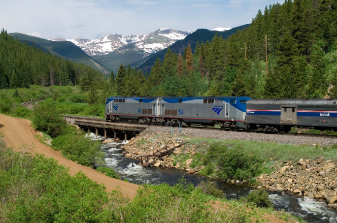Amtrak across the US