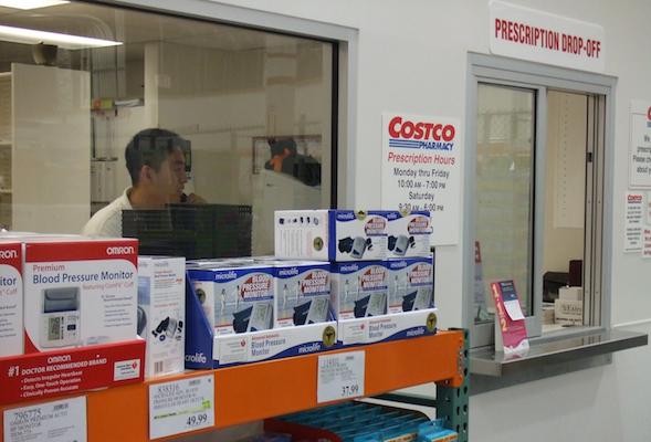 Costco pharmacy window