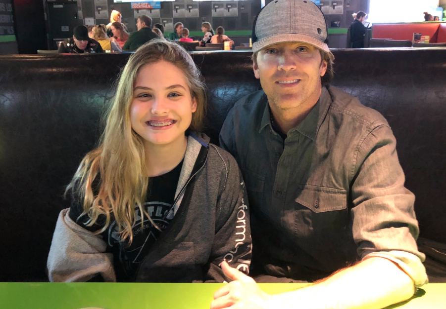 Dannielynn and Larry Birkhead on Mother's Day
