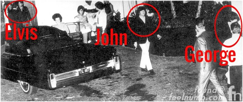 The one photo of Elvis meeting with The Beatles